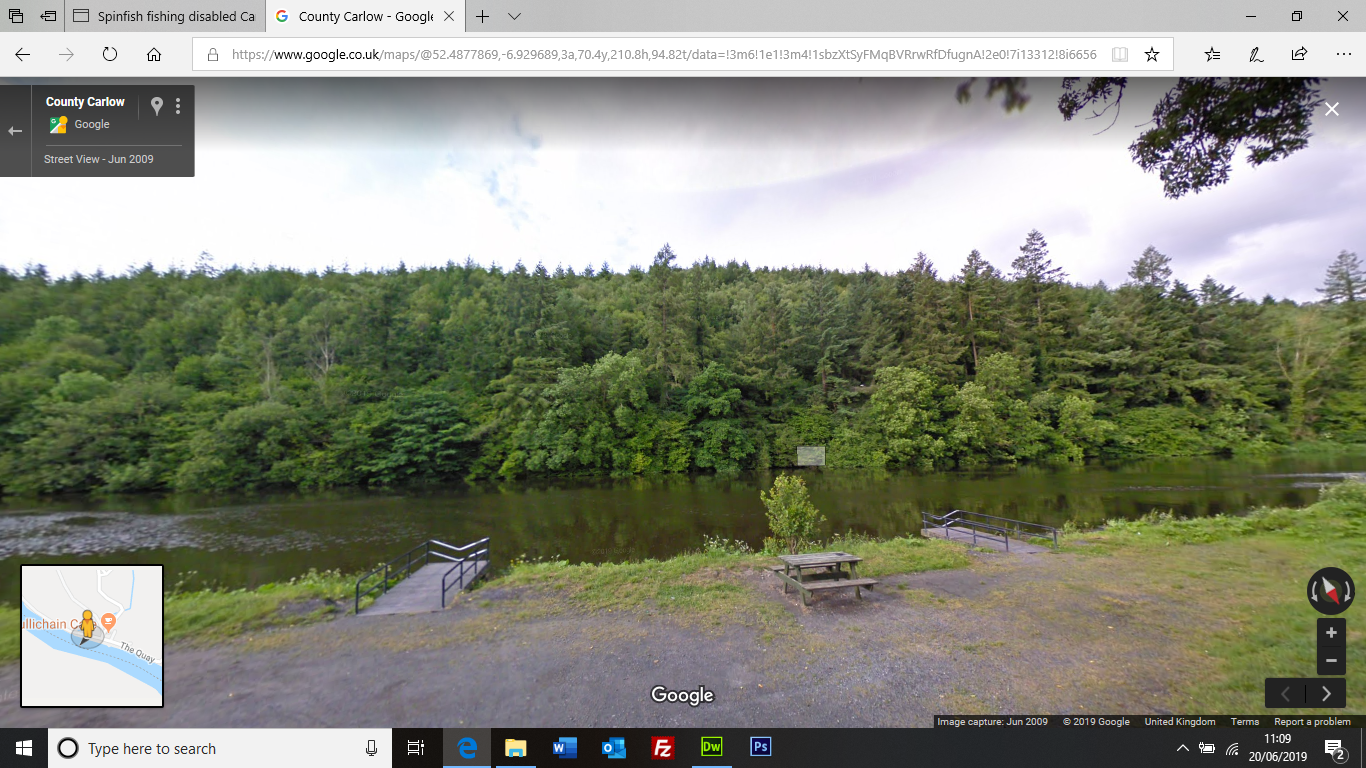 Google screen shot Fishing Stands St Mullins
