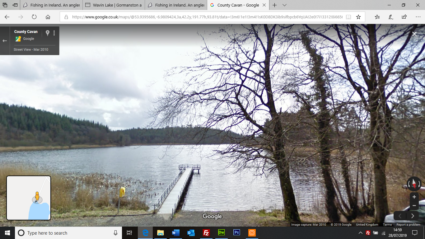Google Street View Castle Lough stand for disabled anglers Castle Lough near Ballieboro