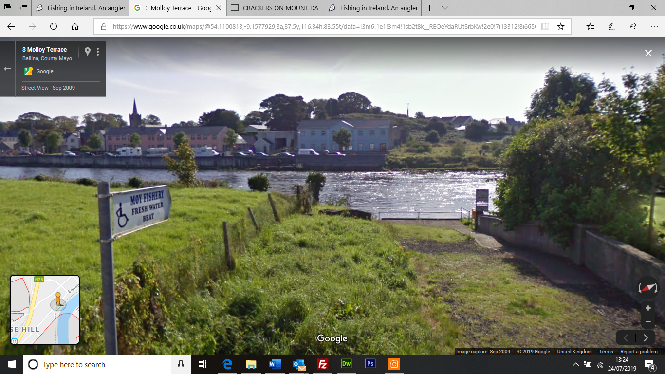 Google Street View River Moy access for disabled anglers