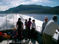 Cruising to the fishing ground in Creag Ard Charters boat