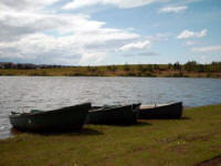 The boats available at no extra charge on Pottishaw Fly Fishery